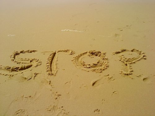 sand stop pause
