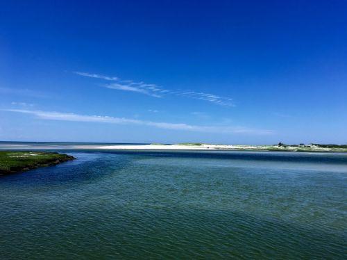sand and blue sky beautiful shoreline horizon