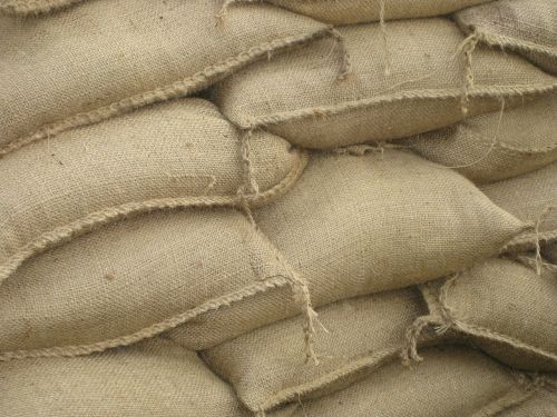 sand bags jute bags flood 2013