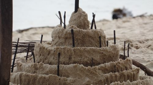 sand castle send beach