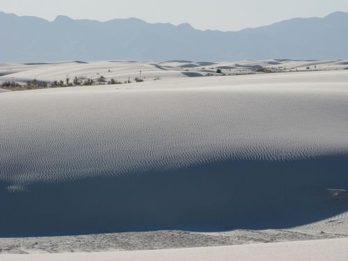 sand dunes white scenic