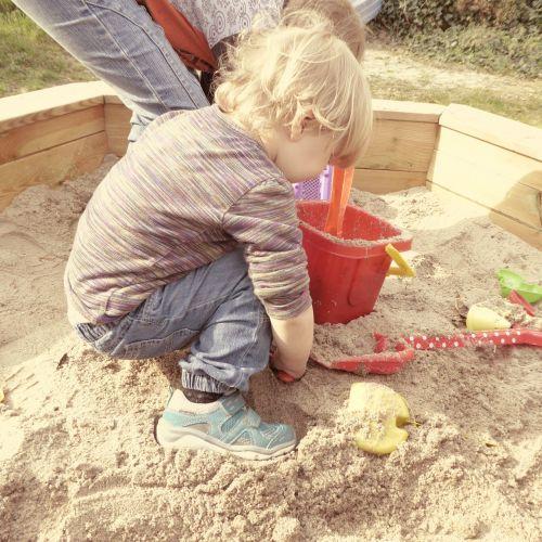 sand pit children play