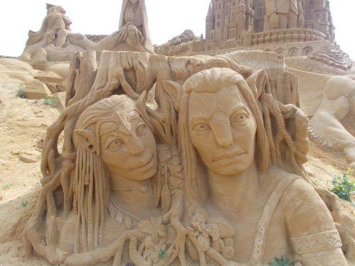sand sculpture avatar bruges