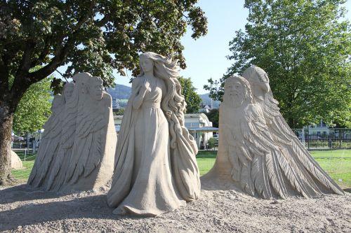 sand sculptures festival statue