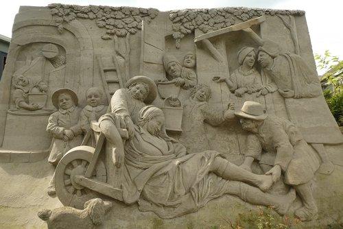 sand sculptures  art  sculpture