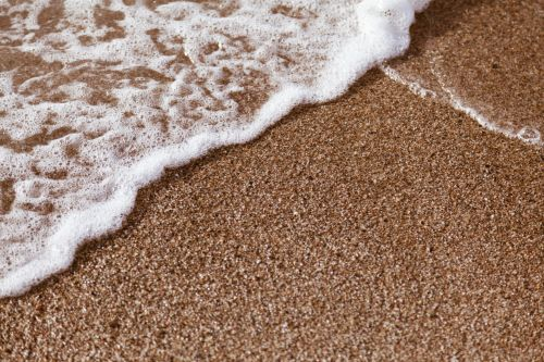 Sand With Wave Foam