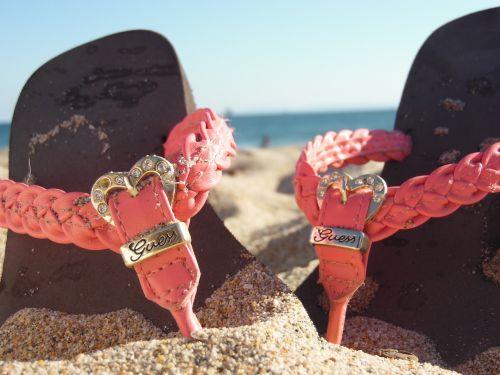 sandals beach sand