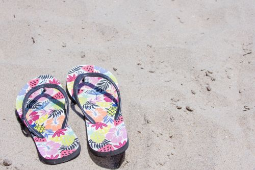 sandals flip flops sand