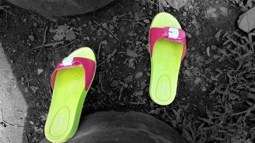 sandals lemon colour bright colours