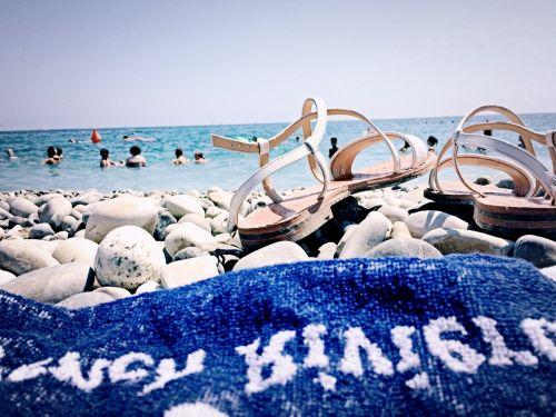 sandals beach feet