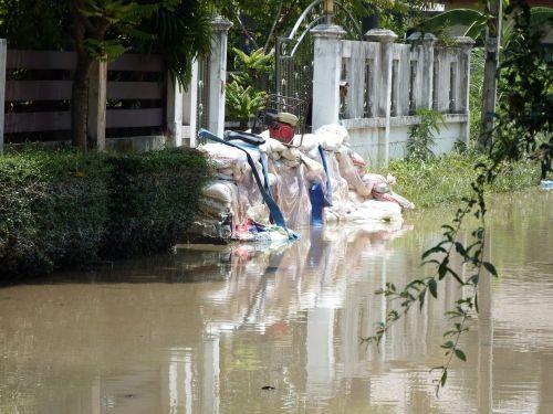 Sandbags Blocking Floods
