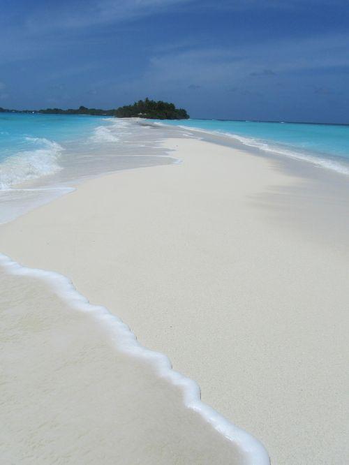 sandbar beach sea