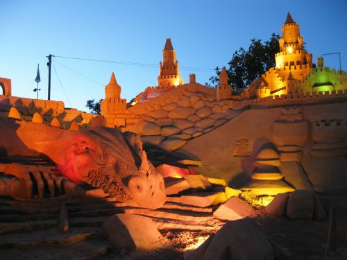 sandburg fiesa sand sculpture