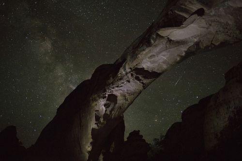 sandstone arch milky way night