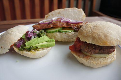 sandwich buns lunch
