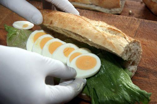 sandwich food eggs