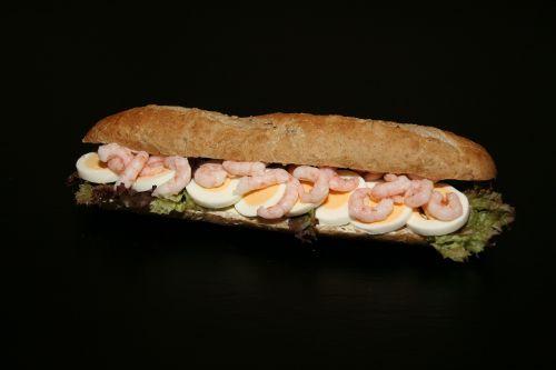 sandwich eggs prawns