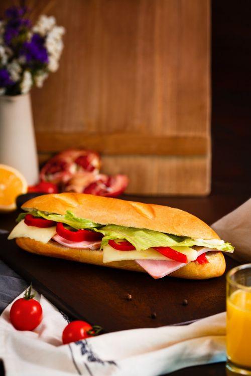 sandwich sandwich with sausage breakfast