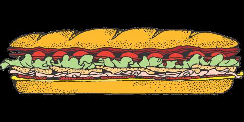sandwich meal baguette