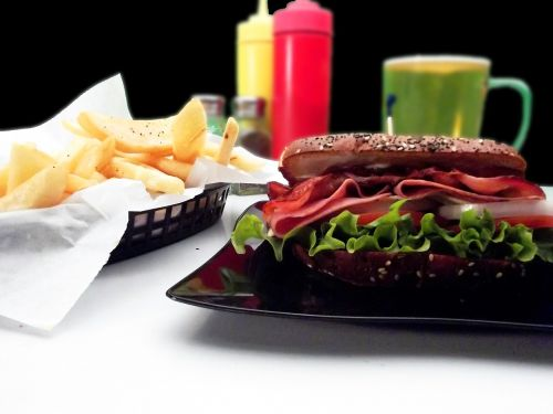 sandwich french fries snack
