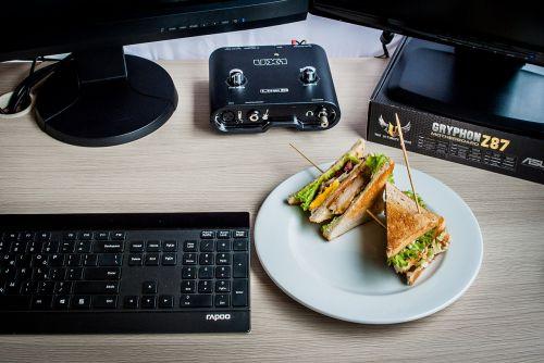 sandwiches computer keyboard
