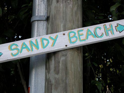 Sandy Beach Sign
