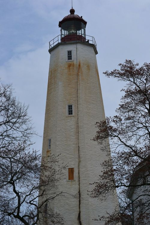 sandy hook lighthouse nj beach