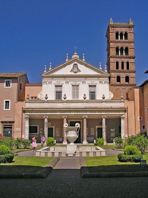 santa cecilia in trastevere rome italy