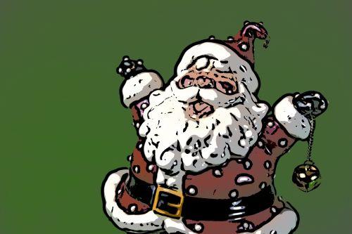 Santa Christmas Line Drawing