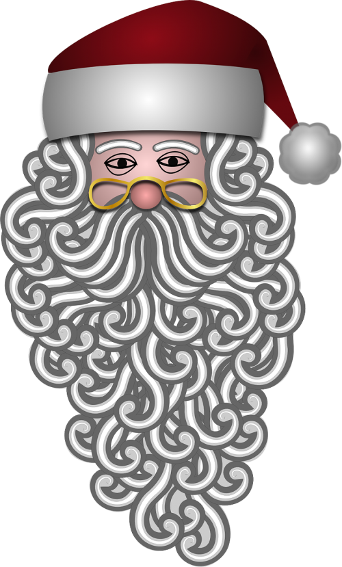 santa claus bearded beard