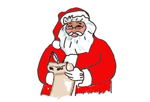 santa claus wish list write down