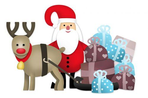 santa claus reindeer rudolph the red-nosed reindeer