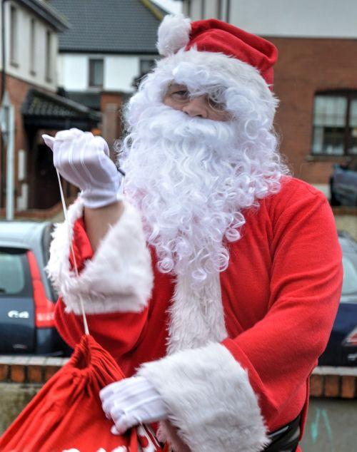santa clause red jacket white beard