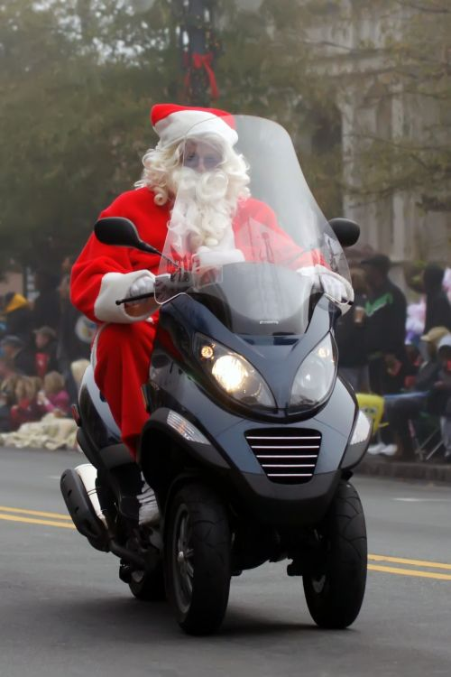 Santa Clause On A Scooter