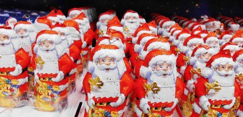 santa clauses figures father christmas