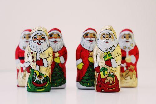 santa clauses chocolate nicholas