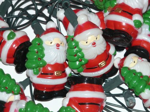 santa clauses lichterkette christmas ornaments