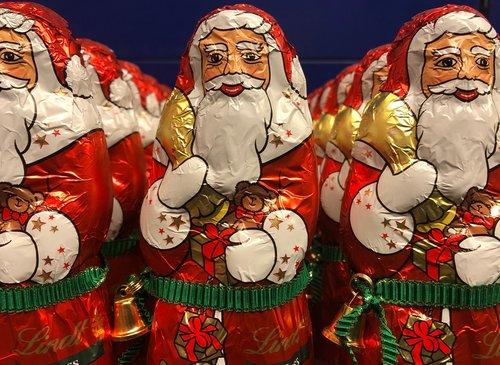 santa clauses  chocolate  chocolate santa claus
