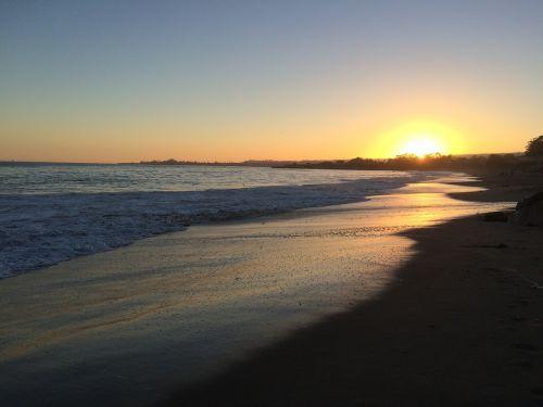 santa cruz beach sunset