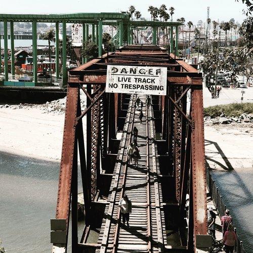 santa cruz  beach  train industry