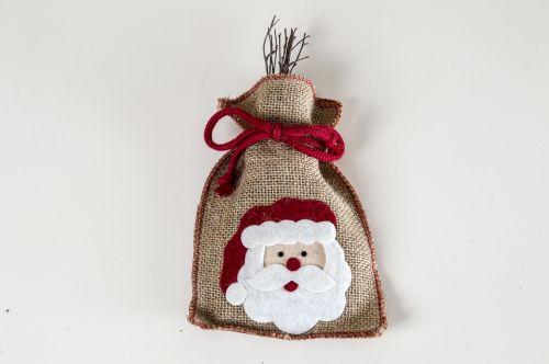 santa decor decoration santa bag