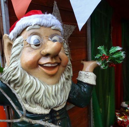 Santa Elf With Holly