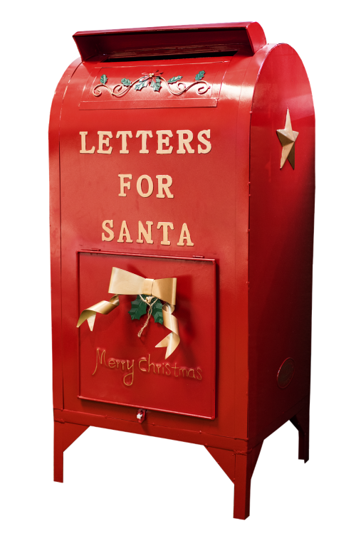 santa mailbox christmas xmas