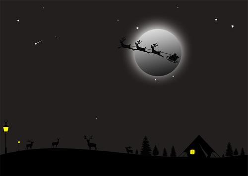 santa sleigh  christmas  jesus
