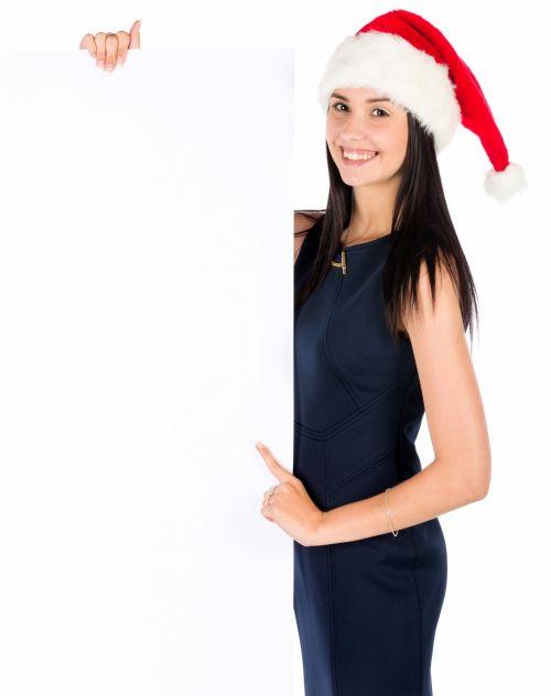 tuščia & nbsp, lenta, šventė, Kalėdos, Darina & nbsp, copakova, tuščia, Moteris, mergaitė, skrybėlę, šventė, izoliuotas, žmonės, santa & nbsp, claus, ženklas, balta & nbsp, fonas, žiema, moteris, xmas, santa su tuščia lenta