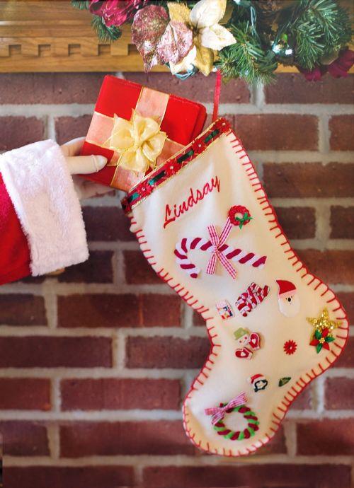 santa's arm christmas stocking gift