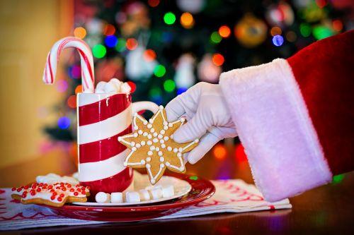 santa's arm hot chocolate cocoa
