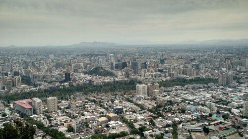 santiago de chile landscape city