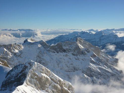 säntis snow mountains