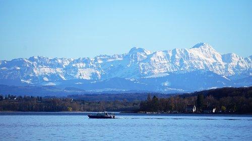 säntis  old man  lake constance